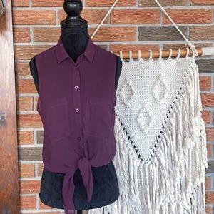 GARAGE Purple Blouse
